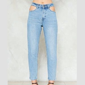 MOMOKRUM (Nasty Gal) Cut Out Pockets Jeans